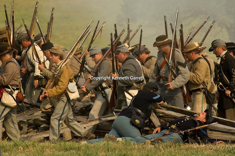 Pickett's Charge Re-Enactments, Gettysburg, Pennsylvania