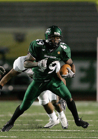 DENTON, TX  NOVEMBER 19: Brandon Jackson #49 - University of North Texas Mean Green vs University Louisiana Monroe Warhawks at Fouts Field in Denton on November 19, 2005 in Denton, TX. ULM won 24-19. Photo by Rick Yeatts
