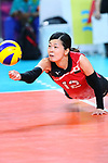 Miya Sato (JPN), <br /> SEPTEMBER 1, 2018 - Volleyball : <br /> Women's Bronze Medal match<br /> between Japan 1-2 Korea <br /> at Gelora Bung Karno Indoor Tennis Stadium <br /> during the 2018 Jakarta Palembang Asian Games <br /> in Jakarta, Indonesia. <br /> (Photo by Naoki Nishimura/AFLO SPORT)