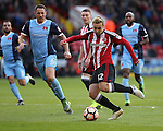 Harry Chapman of Sheffield United scoring his teams fourth goal of the game during the Emirates FA Cup Round One match at Bramall Lane Stadium, Sheffield. Picture date: November 6th, 2016. Pic Simon Bellis/Sportimage
