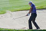 August 5, 2012: Padraig Harrington from Dublin, Ireland chips out of a bunker on the 18th hole during the final round of the 2012 Reno-Tahoe Open Golf Tournament at Montreux Golf & Country Club in Reno, Nevada.