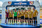 Masters trophy ceremony during the Day 3 of the HKFC Citibank Soccer Sevens 2014 on May 25, 2014 at the Hong Kong Football Club in Hong Kong, China. Photo by Victor Fraile / Power Sport Images