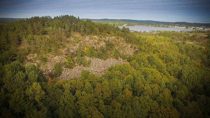 The Panorama Overlook on the RAMBA trails of Marquette County, Michigan.