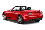Car pictures of rear three quarter view of a 2015 Mazda MX-5 Miata Club Auto 2 Door Convertible Angular Rear