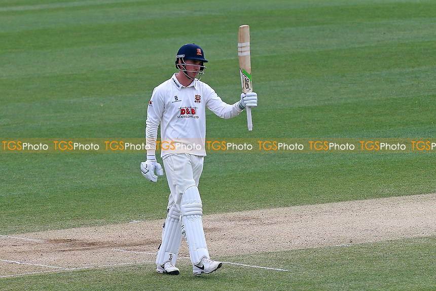 Daniel Lawrence of Essex celebrates scoring a half-century, 50 runs during Essex CCC vs Lancashire CCC, Specsavers County Championship Division 1 Cricket at The Cloudfm County Ground on 10th April 2017