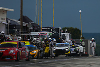 #71 Rebel Rock Racing Chevrolet Camaro GT4.R, GS: Frank DePew, Robin Liddell, Pit Stop