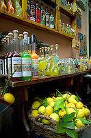 Monterosso, Cinque Terre, Liguria, Italy, May 2005. Wine and Limoncino liquor. Built against the steep cliffs of the Ligurian coast of Italy, lie the five villages of the Cinque Terre. Ancient hiking trails connecting the villages offer some of Italy's most spectacular views. Photo by Frits Meyst/Adventure4ever.com