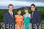 DEBS: Having a great time at the CBS The Green, Tralee Debs at the Ballyroe Heights hotel on Thursday l-r: Anthony Laucher, Aoife Dalton, Deanna Quirke and Imran Gardezi.