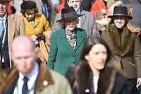 11/03/2020 - Camilla Duchess of Cornwall at Ladies Day during the Cheltenham Festival 2020 at Cheltenham Racecourse, Gloucestershire. Photo Credit: ALPR/AdMedia