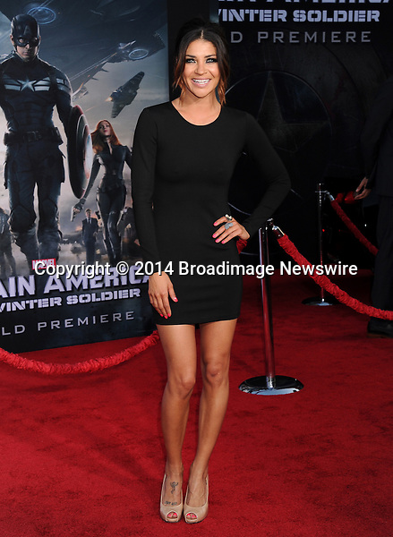 Pictured: Jessica Szohr<br /> Mandatory Credit &copy; Gilbert Flores/Broadimage<br /> Captain America: The Winter Soldier - Los Angeles Premiere<br /> <br /> 3/13/14, Hollywood, California, United States of America<br /> <br /> Broadimage Newswire<br /> Los Angeles 1+  (310) 301-1027<br /> New York      1+  (646) 827-9134<br /> sales@broadimage.com<br /> http://www.broadimage.com