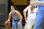 GRAND RAPIDS, MI - MARCH 18: Lauren Dillon (11) of Tufts University dribbles the ball during the Division III Women's Basketball Championship held at Van Noord Arena on March 18, 2017 in Grand Rapids, Michigan. Amherst defeated 52-29 for the national title. (Photo by Brady Kenniston/NCAA Photos via Getty Images)