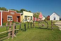Pioneer Village in Fort La Reine Museum<br /> Portage La Prairie<br /> Manitoba<br /> Canada