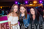 Pictured at the Kerins O'Rahillys Strictly Come Dancing, held at the Brandon Hotel, Tralee on Saturday night last, were l-r: Abbey Dolan, Leanne O'Regan and Caitriona O'Regan