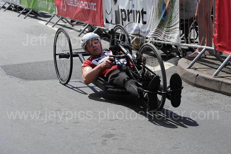 """One of the competitors during the Abergavenny Festival of Cycling """"Para Grand Prix of Wales"""" race on Sunday 17th 2016<br /> <br /> <br /> Jeff Thomas Photography -  www.jaypics.photoshelter.com - <br /> e-mail swansea1001@hotmail.co.uk -<br /> Mob: 07837 386244 -"""