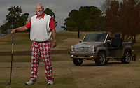 NWA Democrat-Gazette/ANDY SHUPE<br /> Robert Parker of Fayetteville, a longtime used car salesman, stands Sunday, Nov. 12, 2017, on the seventh tee box at Fayetteville Country Club where he has been a member for decades.