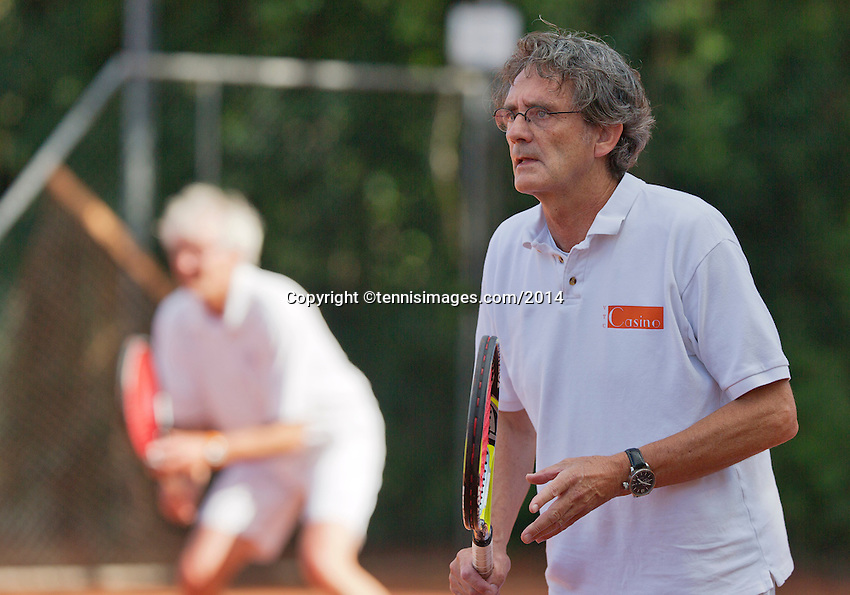 August 24, 2014, Netherlands, Amstelveen, De Kegel, National Veterans Championships, Mens doubles<br /> Photo: Tennisimages/Henk Koster