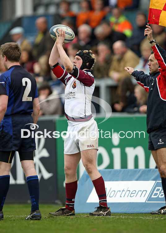 Wednesday 21st March 2012 - Andrew Black in action during the Ulster Schools Subsidiary Shield Final between Limavady Grammar School and Royal School Armagh at Ravenhill, Belfast.<br /> <br /> Picture credit: John Dickson / DICKSONDIGITAL