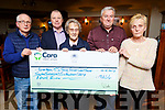 The Moran family presenting a cheque to Pieta House, Cuan Mhuire and MS Society, proceeds from the Grace Moran Memorial Walk in the Kerins O&rsquo;Rahillys club on Monday night.<br /> L to r: Jimmy Moran, Con O&rsquo;Connor (Pieta House), Sr Agnes (Cuan Mhuire), Henry Burrows (MS Society) and Eileen Moran.