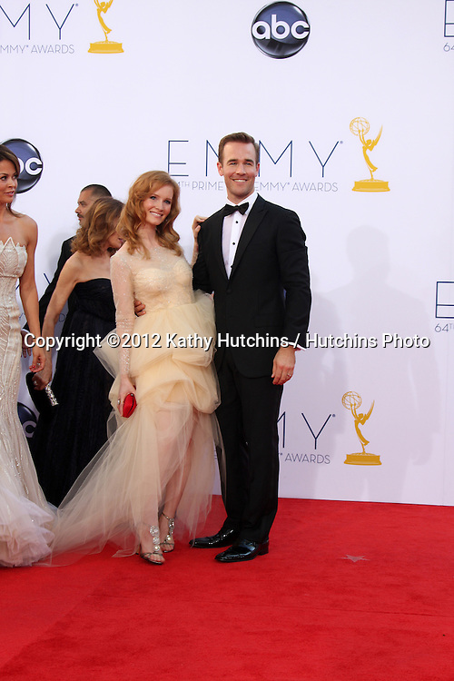 LOS ANGELES - SEP 23:  James Van Der Beek arrives at the 2012 Emmy Awards at Nokia Theater on September 23, 2012 in Los Angeles, CA