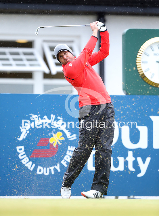 27 May 2015; Sergio Garcia tees up at the 10th<br /> <br /> Dubai Duty Free Irish Open Golf Championship 2015, Pro-Am. Royal County Down Golf Club, Co. Down. Picture credit: John Dickson / DICKSONDIGITAL