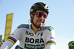 World Champion Peter Sagan (SVK) Bora-Hansgrohe on the line in Compiegne for the start of the 116th edition of Paris-Roubaix 2018. 8th April 2018.<br /> Picture: ASO/Pauline Ballet | Cyclefile<br /> <br /> <br /> All photos usage must carry mandatory copyright credit (&copy; Cyclefile | ASO/Pauline Ballet)