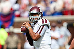 Texas A&M Aggies quarterback Kenny Hill (7) in action during the game between the Texas A&M Aggies and the SMU Mustangs at the Gerald J. Ford Stadium in Fort Worth, Texas. A&M leads SMU 38 to 3 at halftime.