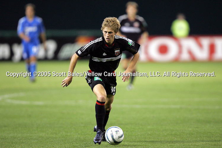 21 May 2005: DC United's Brian Carroll. DC United defeated the Kansas City Wizards 3-2 at RFK Stadium in Washington, DC in a regular season Major League Soccer game. .