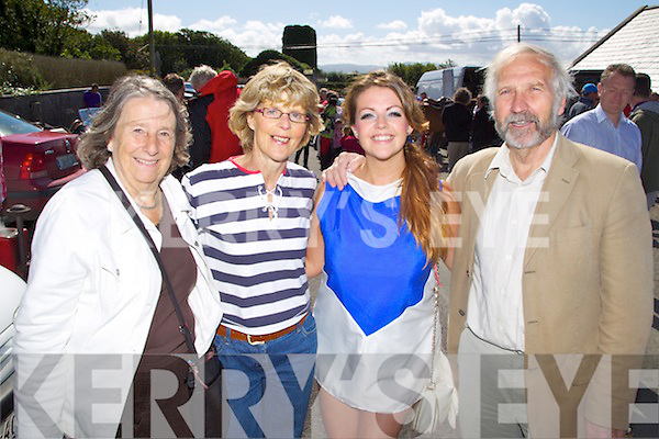 Pictured at the Churchill Heritage 60's day on Saturday, from left: Christine Sunderland (Lancashire), Kathleen Murray (Barrow), Marie Murray (Barrow) and David Sunderland (Lancashire)..