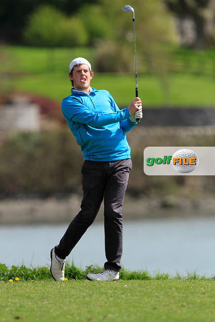 Matthew McClean (Balmoral) on the 13th during Day 2 of The Munster Youths' Amateur Open Championship in Dungarvan Golf Club on Thursday 24th April 2014.<br /> Picture:  Thos Caffrey / www.golffile.ie