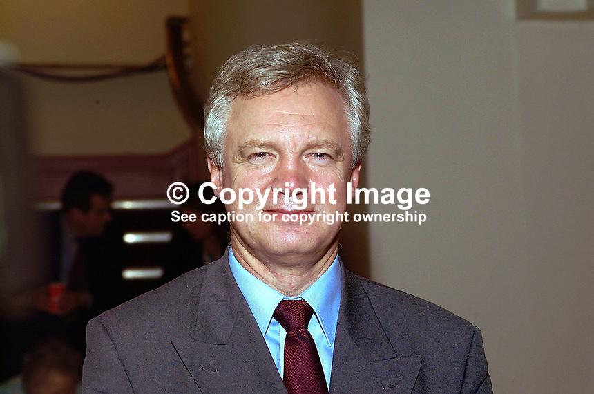 David Davis, Conservative Party, MP, England, UK, former minister. Taken at Annual Conference, Blackpool, 200110084032.<br />