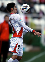 d Rayo Vallecano's Jose Carlos during La Liga  match. February 24,2013.(ALTERPHOTOS/Alconada)