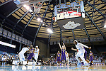 30 December 2014: Albany's Sarah Royals (4) shoots a free throw. The University of North Carolina Tar Heels hosted the University at Albany Great Danes at Carmichael Arena in Chapel Hill, North Carolina in a 2014-15 NCAA Division I Women's Basketball game. UNC won the game 71-56.