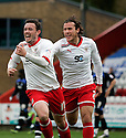 Craig Reid of Stevenage celebrates after scoring their first goal with Lawrie Wilson . - Stevenage v Bury - npower League 1 - Lamex Stadium, Stevenage  - 5th May, 2012. © Kevin Coleman 2012