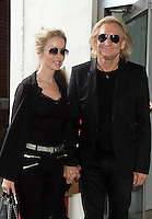 "August 06, 2012 Joe Walsh with wife Majorie Bach at ""CBS This Morning"" studio in New York City to discuss his new solo album 'Analog Man'. © RW/MediaPunch Inc. /NortePhoto.com<br />