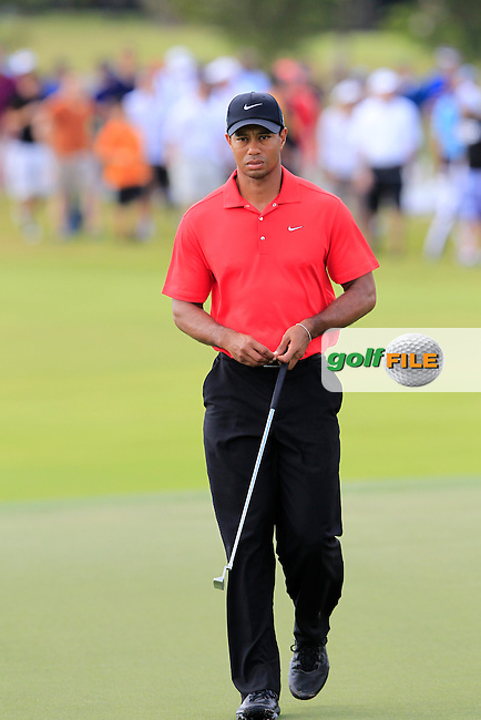 Tiger Woods (USA) on the 3rd green during Sunday's Final Round of the WGC Cadillac Championship at TPC Blue Monster, Doral Golf Resort & Spa, Miami Florida, 11th March 2012 (Photo Eoin Clarke/www.golffile.ie)