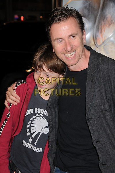 "TIM ROTH & SON.""10,000 B.C."" Los Angeles Premiere at Grauman's Chinese Theatre, Hollywood, California, USA..March 5th, 2008.half length red grey gray black top jacket father family stubble facial hair .CAP/ADM/BP.©Byron Purvis/AdMedia/Capital Pictures."