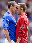 20TH MAY 2007, ABERDEEN V RANGERS AT PITTODRIE STADIUM, ABERDEEN, DAVID WEIR AND STEVIE LOVELL SQUARE UP, ROB CASEY PHOTOGRAPHY.