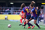 UEFA Women's Champions League 2018/2019.<br /> Semi Finals<br /> FC Barcelona vs FC Bayern Munchen: 1-0.<br /> Alexia Putellas, Dominika Skorvankova & Lieke Martens.