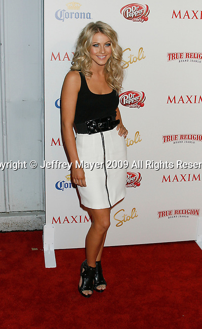 SANTA MONICA, CA. - May 13: Julianne Hough arrives at the Maxim's 10th Annual Hot 100 Celebration at The Barker Hangar on May 13, 2009 in Santa Monica, California.
