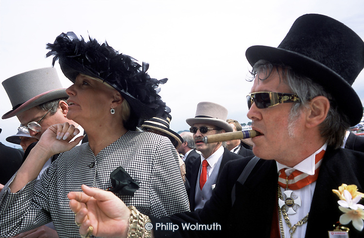 The Royal Stand at Epsom Downs racecourse on Derby Day