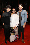 Bobby Conte Thornton, Jonathan Brody and Nick Cordero during the Actors' Equity Gypsy Robe Ceremony honoring Jonathan Brody for  'A Bronx Tale'  at The Longacre on December 1, 2016 in New York City.