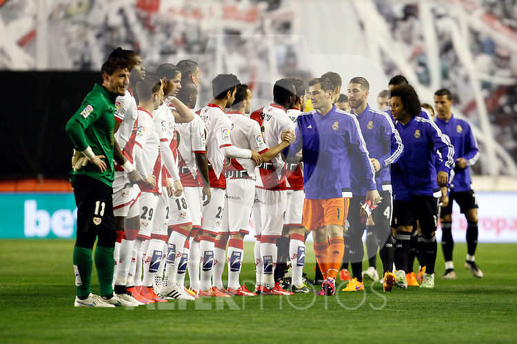 La Liga match between Rayo Vallecano and Real Madrid at Vallecas Stadium in Madrid, Spain. April 08, 2015. (ALTERPHOTOS/Caro Marin)