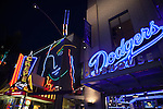 Dodgers Clubhouse and the Crepe Cafe at Universal CityWalk in Universal City, Los Angeles, CA