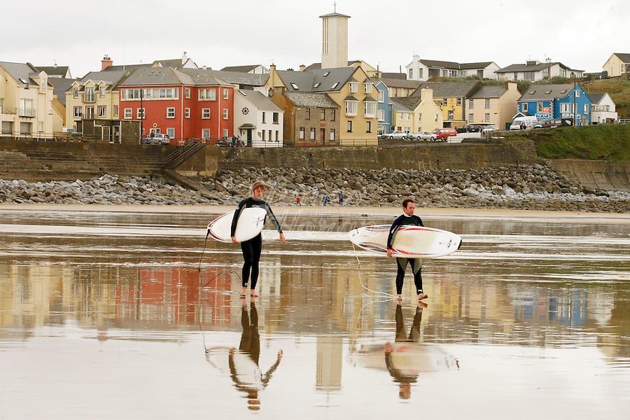 Winter Surfers, Lahinch beach, County Clare, Ireland