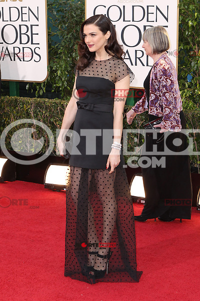 BEVERLY HILLS, CA - JANUARY 13: Rachel Weisz at the 70th Annual Golden Globe Awards at the Beverly Hills Hilton Hotel in Beverly Hills, California. January 13, 2013. Credit MediaPunch Inc. /NortePhoto