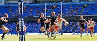 PICTURE BY SIMON WILKINSON/SWPIX.COM - Rugby League - Super League Magic Weekend - Catalans Dragons v London Broncos - Eithad Stadium, Manchester, England - 27/05/12 - Catalans Thomas Bosc.