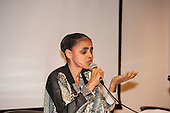 Washington DC, USA. Chico Vive conference, 4th April 2014. Keynote speaker Brazilian Senator Marina Silva, ex-Environment Minister.