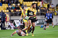 Hurricanes' Vince Aso in action during the Super Rugby - Hurricanes v Southern Kings at Westpac Stadium, Wellington, New Zealand on Friday 25 March 2016.<br /> Photo by Masanori Udagawa. <br /> www.photowellington.photoshelter.com.