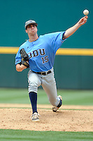 Starting pitcher Andy Roberts (15) of the Old Dominion Monarchs in an NCAA Division I Baseball Regional Tournament game against the Maryland Terrapins on Friday, May 30, 2014, at Carolina Stadium in Columbia, South Carolina. Maryland won, 4-3. (Tom Priddy/Four Seam Images)