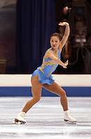 January 18, 2003; Dallas, Texas, USA;  MICHELLE KWAN wins Ladies title at US Figure Skating Championships.  Sarah Hughes took 2nd with Sasha Cohen 3rd..(Photo by Tom Theobald).